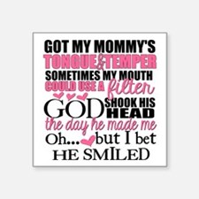 Mommy's Tongue & Temper Sticker