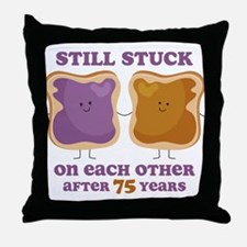 PBJ 75th Anniversary Throw Pillow