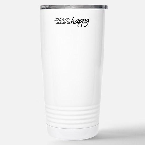 Run Happy Stainless Steel Travel Mug