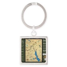 Snoqualmie Pass Mapdana Square Keychain