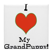 t-shirt for grandparents of dogs Tile Coaster
