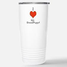 t-shirt for grandparents of dogs Travel Mug