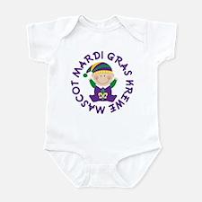 Mardi Gras Krewe Mascot Infant Bodysuit