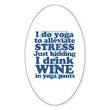 Yoga vs Wine Humor Decal