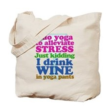 Yoga vs Wine Humor Tote Bag