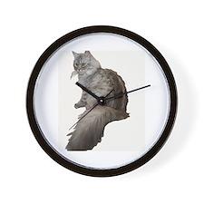 Cute Siberian cat Wall Clock