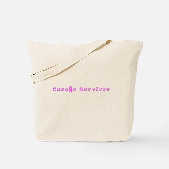 Pink Spirited Cancer Survivor 4Cathy Tote Bag