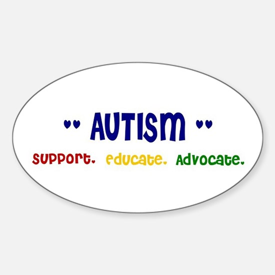 Support. Educate. Advocate. Oval Bumper Stickers
