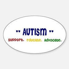Support. Educate. Advocate. Oval Decal