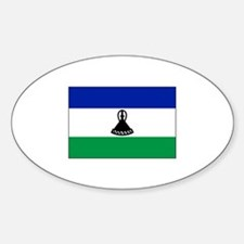 Lesotho Flag Oval Decal
