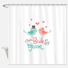 The Bride & Groom Shower Curtain