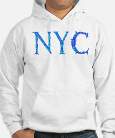 NYC new york city cyan and blue Hoodie