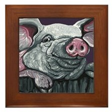 Pig Farm Animal Framed Tile