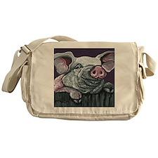 Pig Farm Animal Messenger Bag