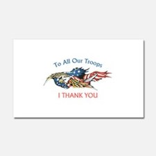 I THANK OUR TROOPS Car Magnet 20 x 12