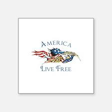 AMERICA LIVE FREE Sticker