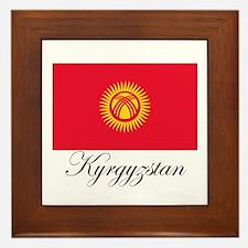 Kyrgyzstan - Flag Framed Tile