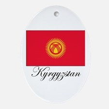 Kyrgyzstan - Flag Oval Ornament
