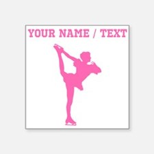 Pink Figure Skate Silhouette (Custom) Sticker