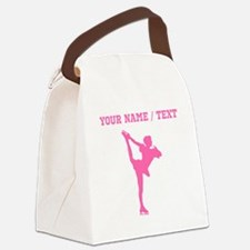 Pink Figure Skate Silhouette (Custom) Canvas Lunch