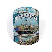 """Santa Monica 3.5"""" Button"""