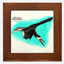 Black Skimmer Framed Tile