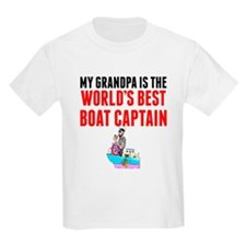 My Grandpa Is The Worlds Best Boat Captain T-Shirt