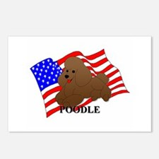 Poodle USA Postcards (Package of 8)