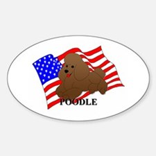 Poodle USA Sticker (Oval)