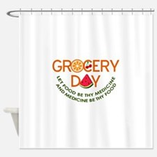 let food be thy medicine Shower Curtain