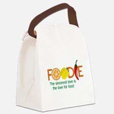 the love for food Canvas Lunch Bag
