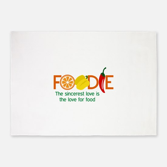 the love for food 5'x7'Area Rug