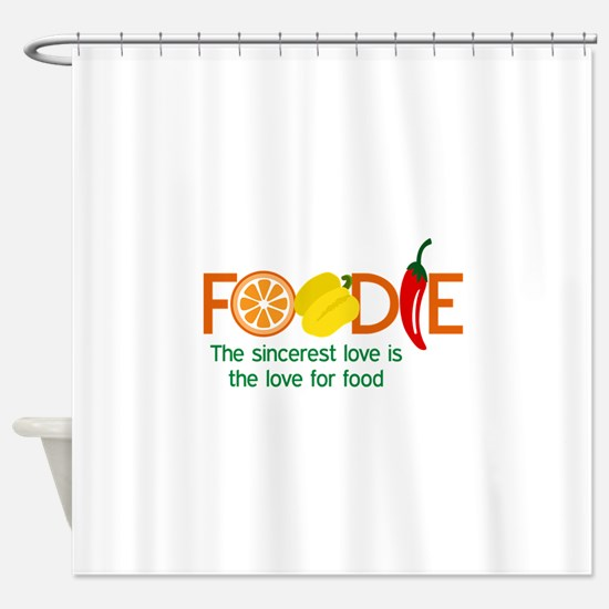 the love for food Shower Curtain