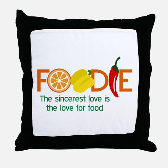 the love for food Throw Pillow