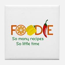 so many recipes Tile Coaster