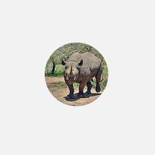 Rhinoceros Mini Button