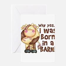 Unique Cute cow Greeting Card