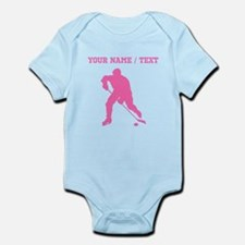 Pink Hockey Player Silhouette (Custom) Body Suit