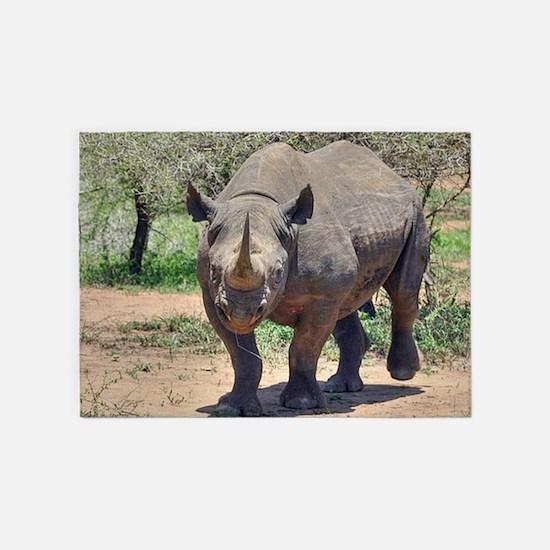 Rhinoceros 5'x7'Area Rug