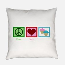 Peace Love Cupcakes Everyday Pillow