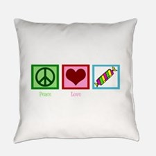 Peace Love Candy Everyday Pillow