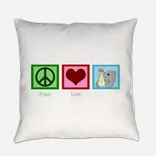 Peace Love Midwife Everyday Pillow