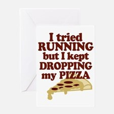 Lazy Pizza Lover Greeting Cards