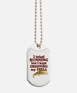 Lazy Pizza Lover Dog Tags