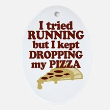 Lazy Pizza Lover Ornament (Oval)