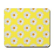 Daisy Flower Pattern Yellow Mousepad