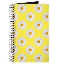 Daisy Flower Pattern Yellow Journal