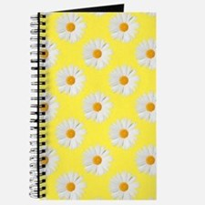 Daisy Flower Pattern Yellow Journal