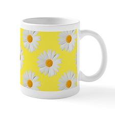 Daisy Flower Pattern Yellow Mug