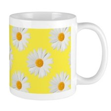 Daisy Flower Pattern Yellow Small Mug